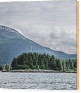 Mountain Range Scenes In June Around Juneau Alaska Wood Print