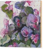 My Annual Begonias Wood Print
