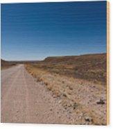 Namibia Road Wood Print