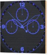 Neon Watch Face Wood Print