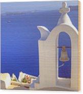 Oia - Santorini Wood Print by Joana Kruse