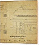 Panzerkampfwagen Maus Wood Print