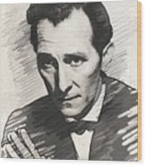 Peter Cushing, Vintage Actor Wood Print