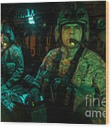 Pilots Sitting In The Cockpit Wood Print