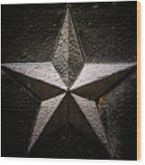 5-pointed Star Wood Print