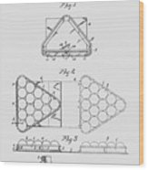 Pool Table Triangle Patent From 1915 Wood Print
