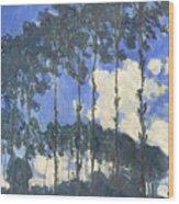 Poplars On The Epte Wood Print