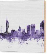 Portsmouth England Skyline Wood Print