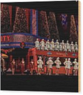 Radio City Rockettes New York City Wood Print