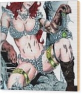Red Sonja Wood Print
