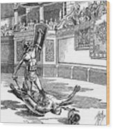 Roman Gladiators Wood Print