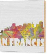 San Francisco California Skyline Wood Print