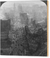 San Francisco Earthquake Wood Print