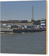 Shipping - New Orleans Louisiana Wood Print
