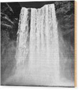 Skogafoss Waterfall In Iceland Wood Print