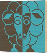 Sleep-sheep - Lonvig By Minymo Wood Print