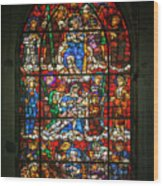 Stained Glass At The Manizales Cathedral In Colombia Wood Print