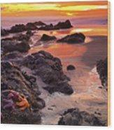 5 Star Sunset Wood Print