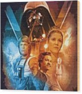 Star Wars Episode 2 Art Wood Print