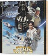 Star Wars Episode V - The Empire Strikes Back 1980 Wood Print
