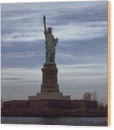 Statue Of Liberty Photograph Wood Print
