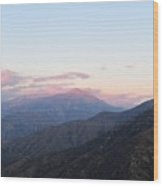 Sunrise Over Kings Canyon Wood Print