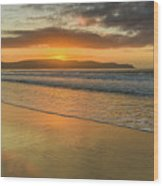 Sunrise Seascape At The Beach Wood Print