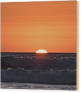 Sunset Over The Ocean Wood Print