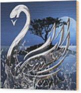 Swan Art. Wood Print