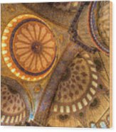 The Blue Mosque Istanbul  Wood Print