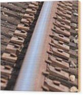 Train Track Wood Print