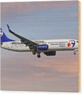 Travel Service Boeing 737-8cx Wood Print
