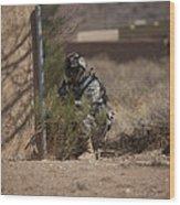 U.s. Soldier Conducts A Combat Training Wood Print