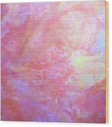 5. V1 Orange, Red And Yellow 'sun' Glaze Painting Wood Print