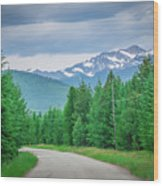 Vast Scenic Montana State Landscapes And Nature Wood Print