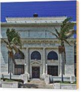 Ventura City Hall Wood Print