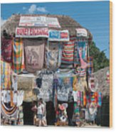 Village Of Coba Wood Print