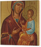 Virgin And Child Religious Art Wood Print