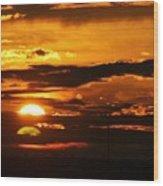 West Texas Sunset  Wood Print