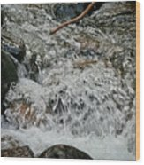 Wild Basin White Water Wood Print by Brent Parks