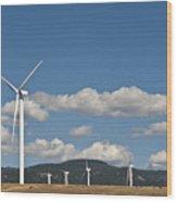 Wind Turbine Farm Wood Print