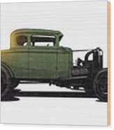 5 Window Hot Rod Wood Print