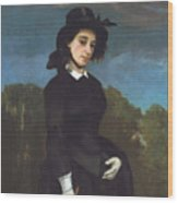 Woman In A Riding Habit Wood Print