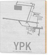 Ypk Pitt Meadows Regional Airport In Pitt Meadows Canada Runway  Wood Print