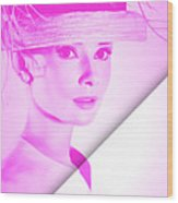 Audrey Hepburn Collection Wood Print