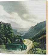 '50 Chevy Pickup In Unaweep Canyon Wood Print