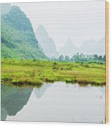 Karst Rural Scenery In Spring Wood Print