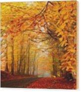 Landscape Artwork Wood Print