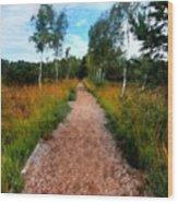 Modern Landscape Wood Print
