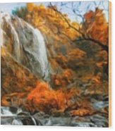 Nature Landscape Oil Painting Wood Print